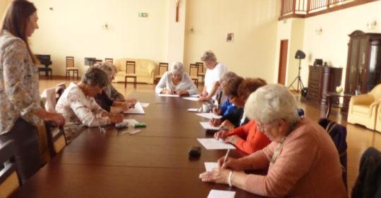 Warsztaty psychologiczne i zajęcia kulturalno-oświatowe  w Klubie Seniora